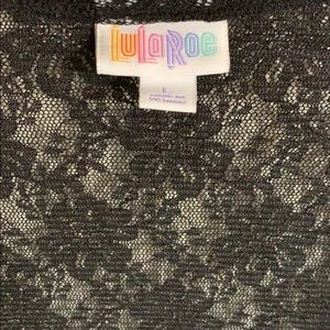 LuLaRoe Rare Black Lace JOY duster sleeveless vest